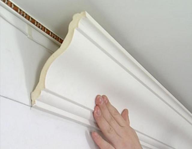 Плинтус потолочный своими руками фото