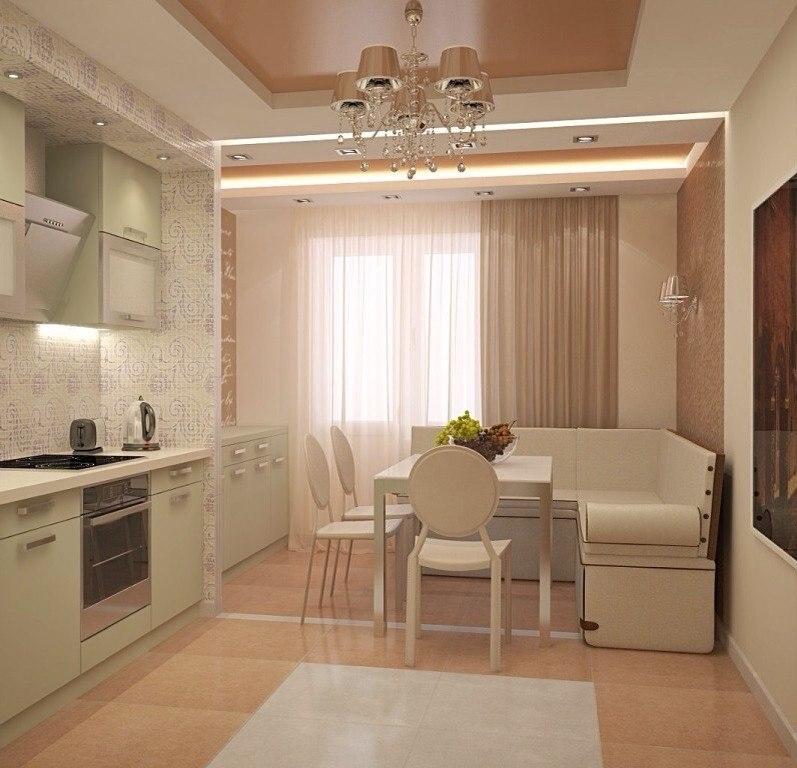 Ремонт дизайн кухни 9 кв м фото